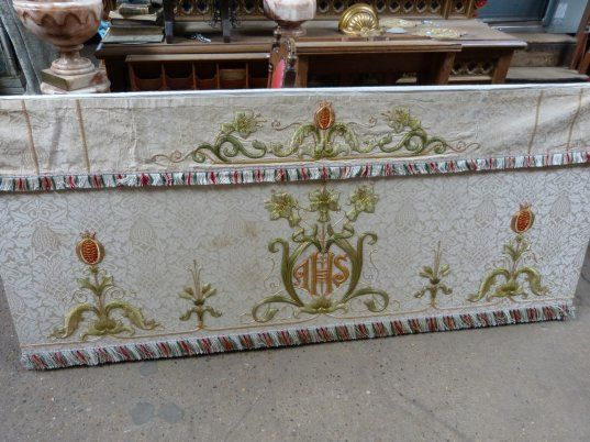 Altar Frontal With Superfrontal Ivory White Stunning