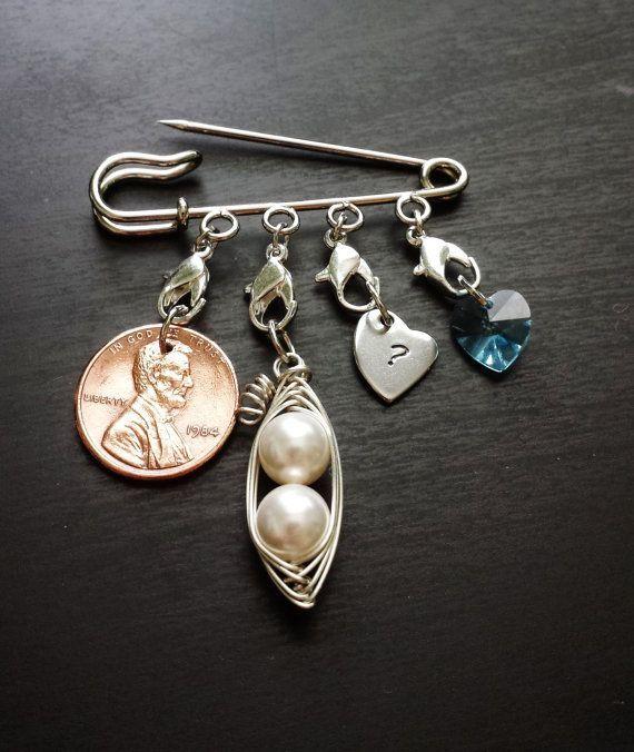 Wedding Tradition Pin-Something Old, Something New