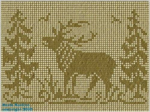 Stag In A Forest Scene Filet With A Free Pattern Link Crochet