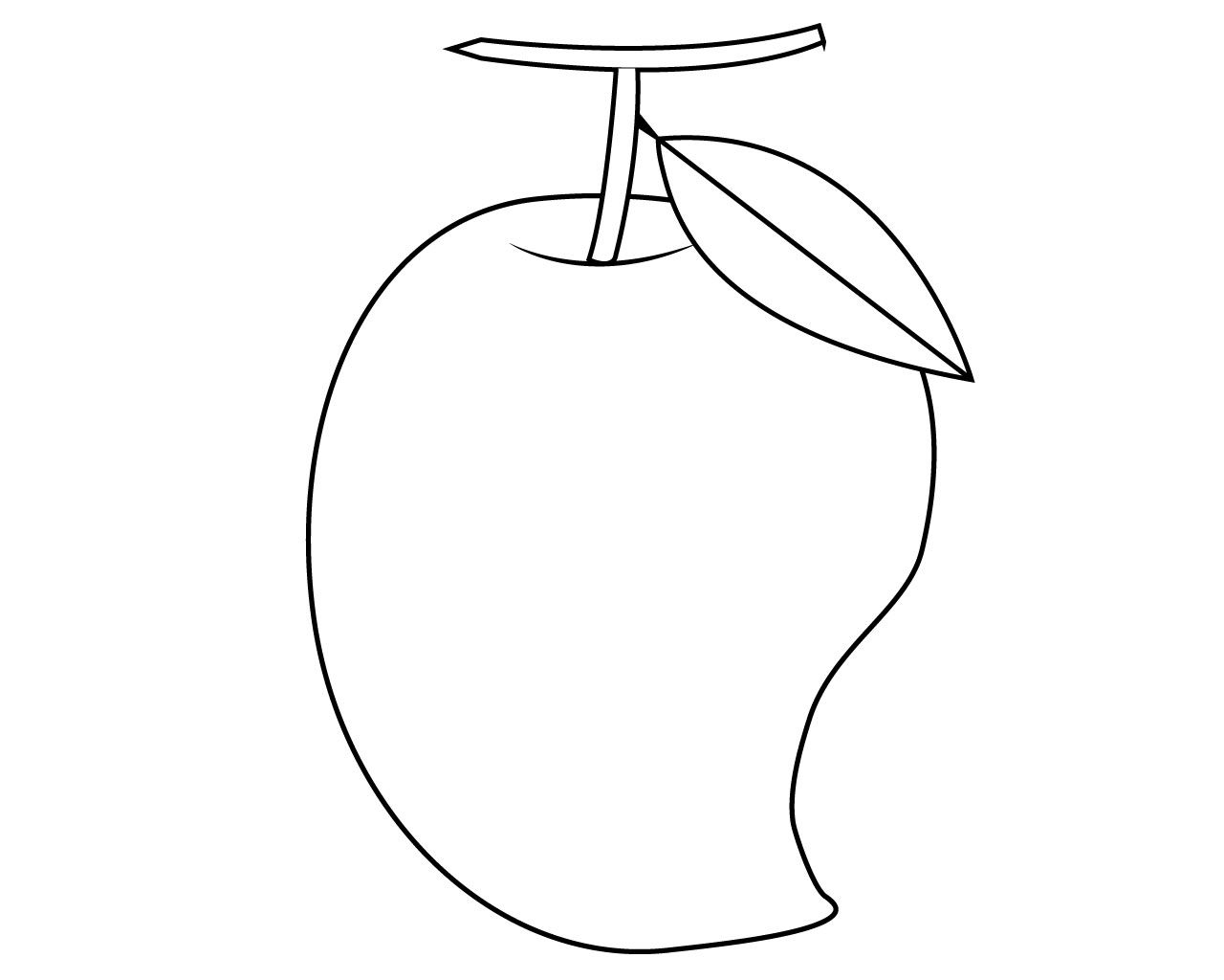 Mango Fruits Coloring Pages Fruit Coloring Pages Coloring