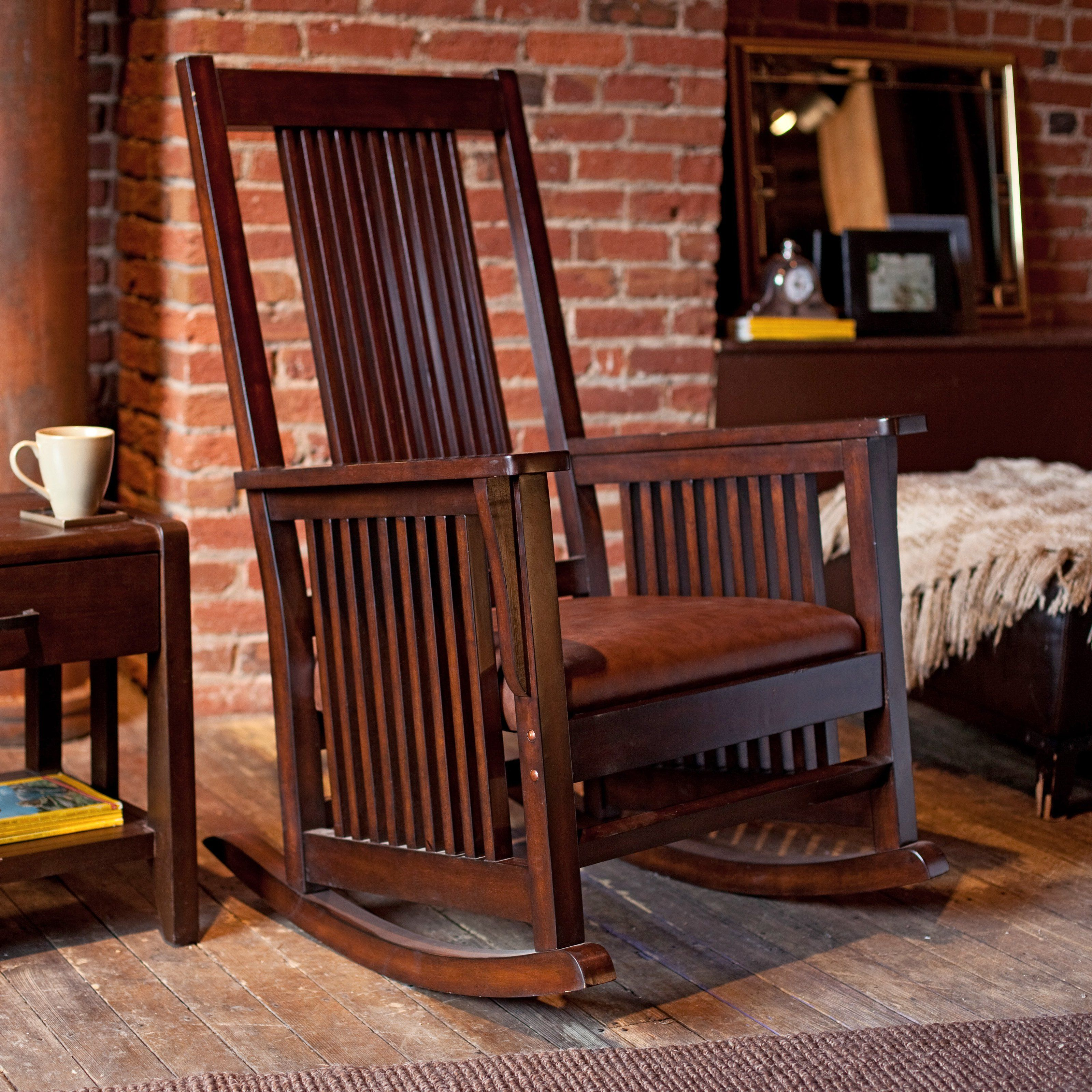 Belham Living Province Mission Rocker Walnut This Chair Rocks With Its Timeless Mission Style The Province Mission Rocker Walnut Brings Classic