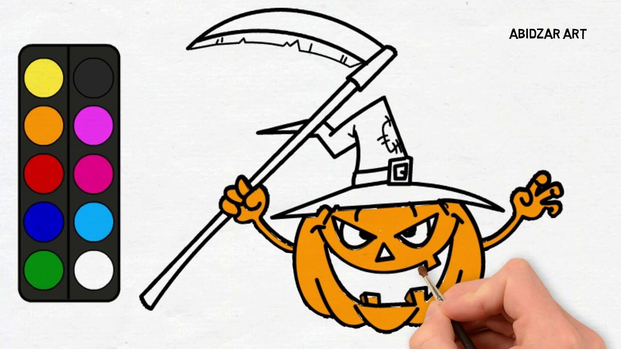 Halloween 2 How To Draw A Scary Pumpkin For Halloween