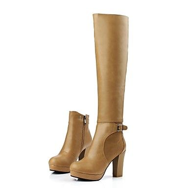 Womens Shoes Platform Chunky Heel Knee High Boots More Colors available   AUD  5719