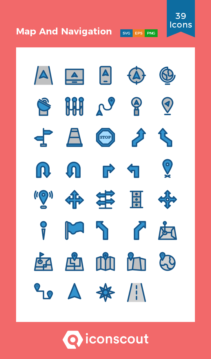 Download Map And Navigation Icon Pack Available In Svg Png Eps Ai Icon Fonts Icon Pack Map Navigation