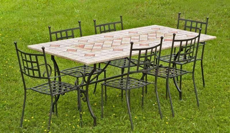 Tavolo In Ferro Battuto Per Esterno : Arredi giardino in ferro gtutzu sedie tavolo