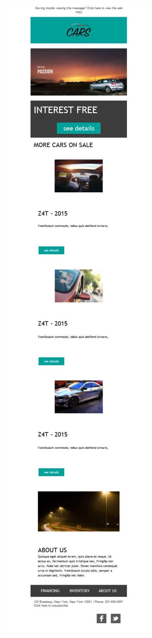 Versión responsive de plantillas newsletter para concesionarios ...