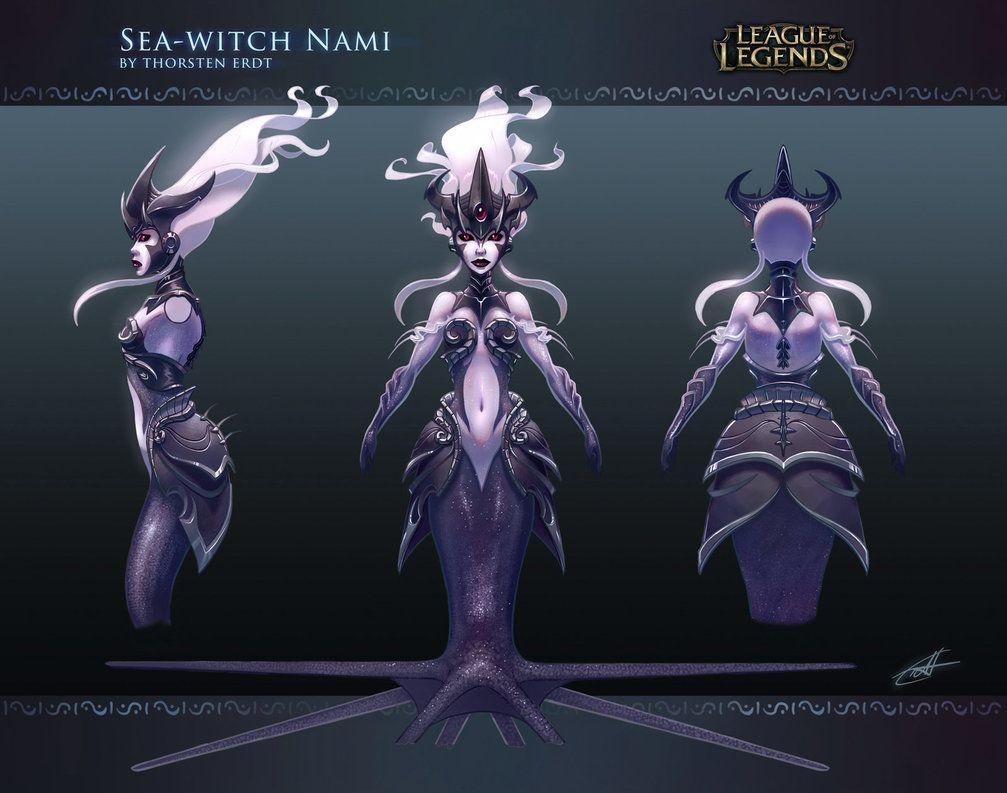 Sea Witch Nami Concept Art League Of Legends Characters Concept Art League Of Legends
