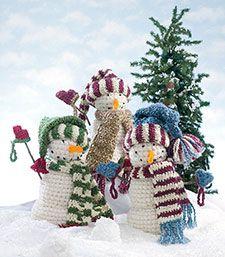 Cute little snowmen - Free pattern