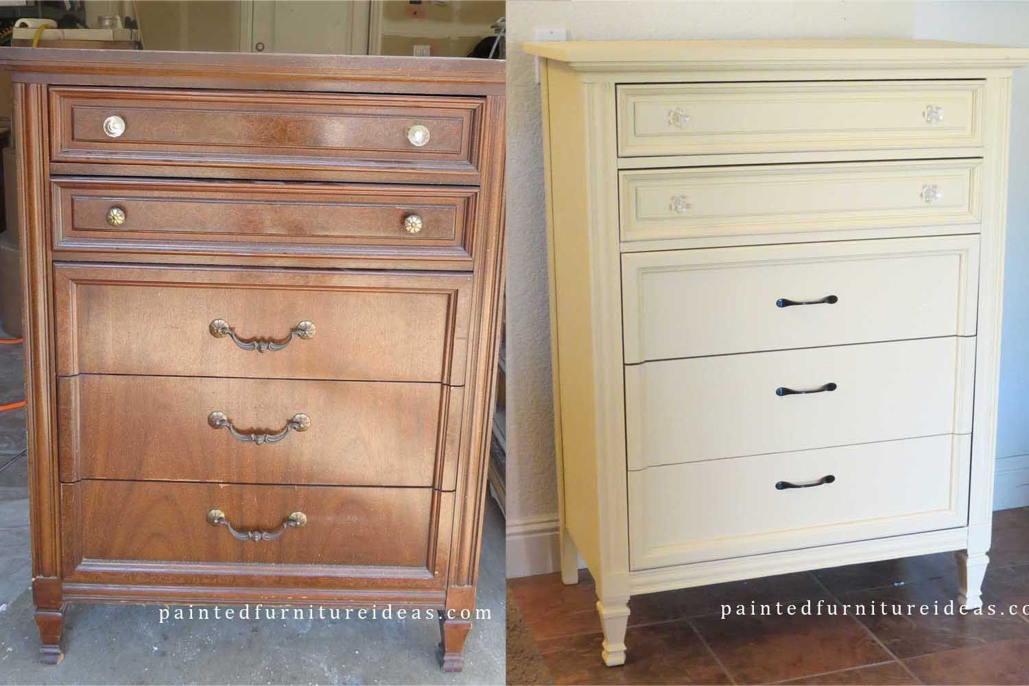 Dixie Dresser Refinished In Light Yellow Painted Furniture Ideas Refinish Projects