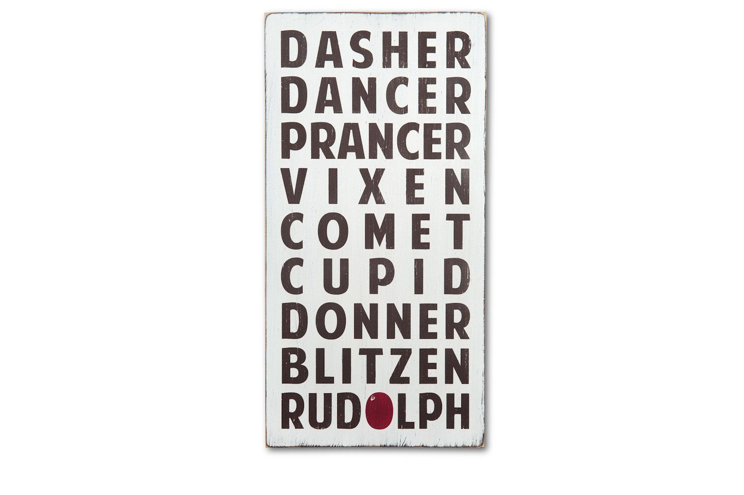 Christmas signs rudolph the red nosed reindeer wall art sign by