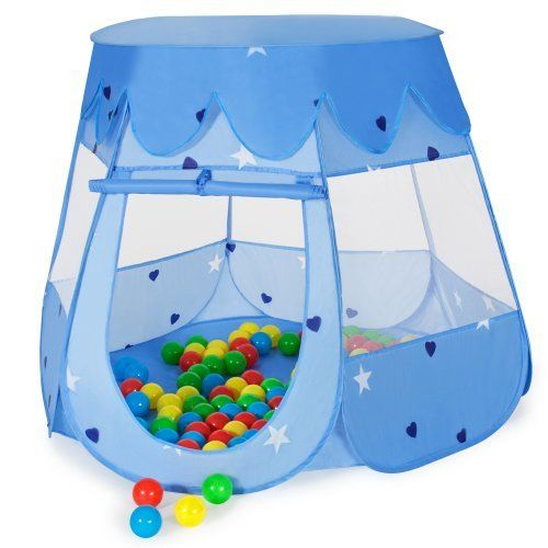 TecTake Childrens Blue Pop-Up Play Tent + 100 Balls + Bag   sc 1 st  Pinterest & TecTake Childrens Blue Pop-Up Play Tent + 100 Balls + Bag http ...