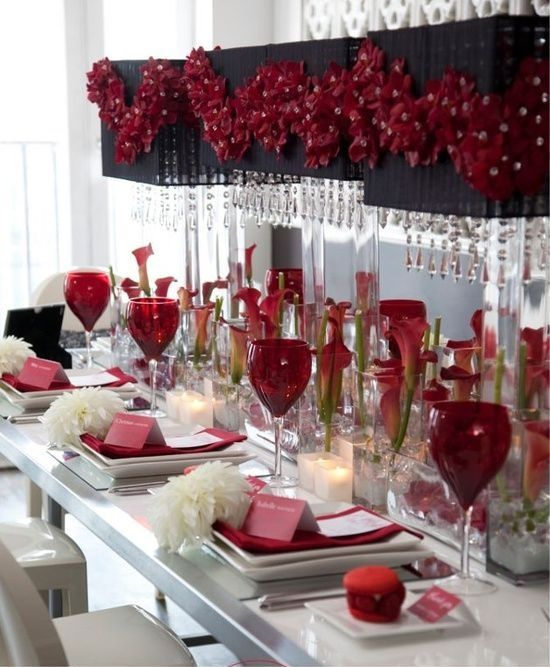 Dangling Centerpieces (With images) | Valentines day ...