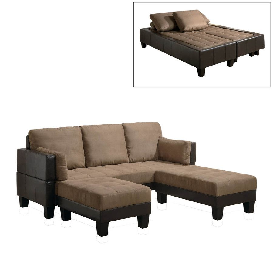 Coaster Fine Furniture TanDark Brown Microfiber Sofa Bed 300160