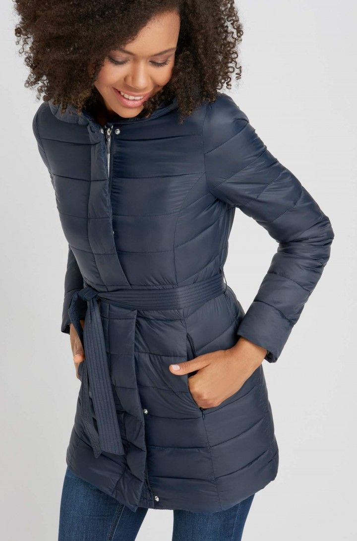 a9be6b3870 Kapucnis steppelt kabát | ORSAY | want | Winter jackets, Fashion ...