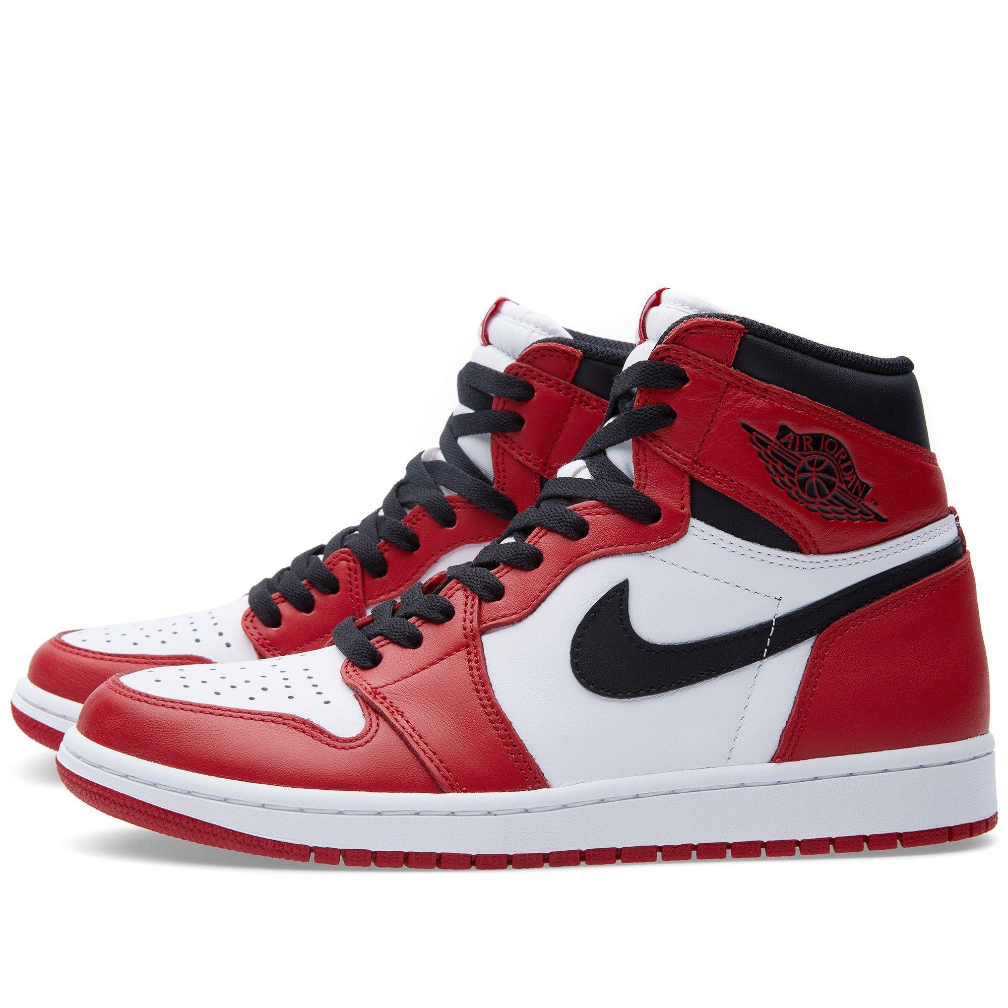 Nike Air Jordan 1 Retro High Og Varsity Red With Images Air