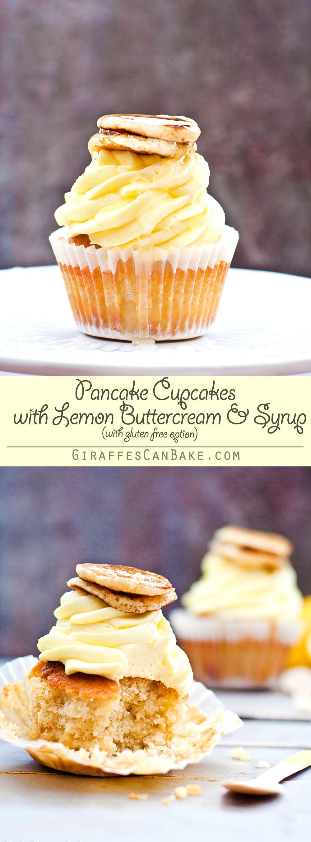 레몬 버터크림&시럽 팬케이크 컵케익
