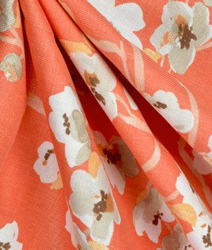 Braemore Sakura Kumquat Fabric