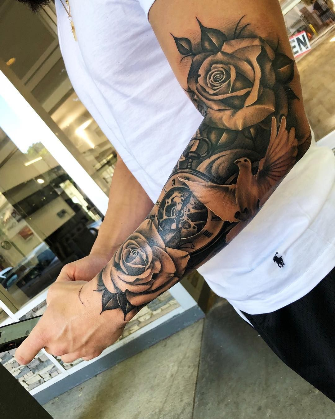 Pin By Epul On Rose Tattoos Cool Half Sleeve Tattoos Half Sleeve Tattoos For Guys Tattoo Sleeve Designs