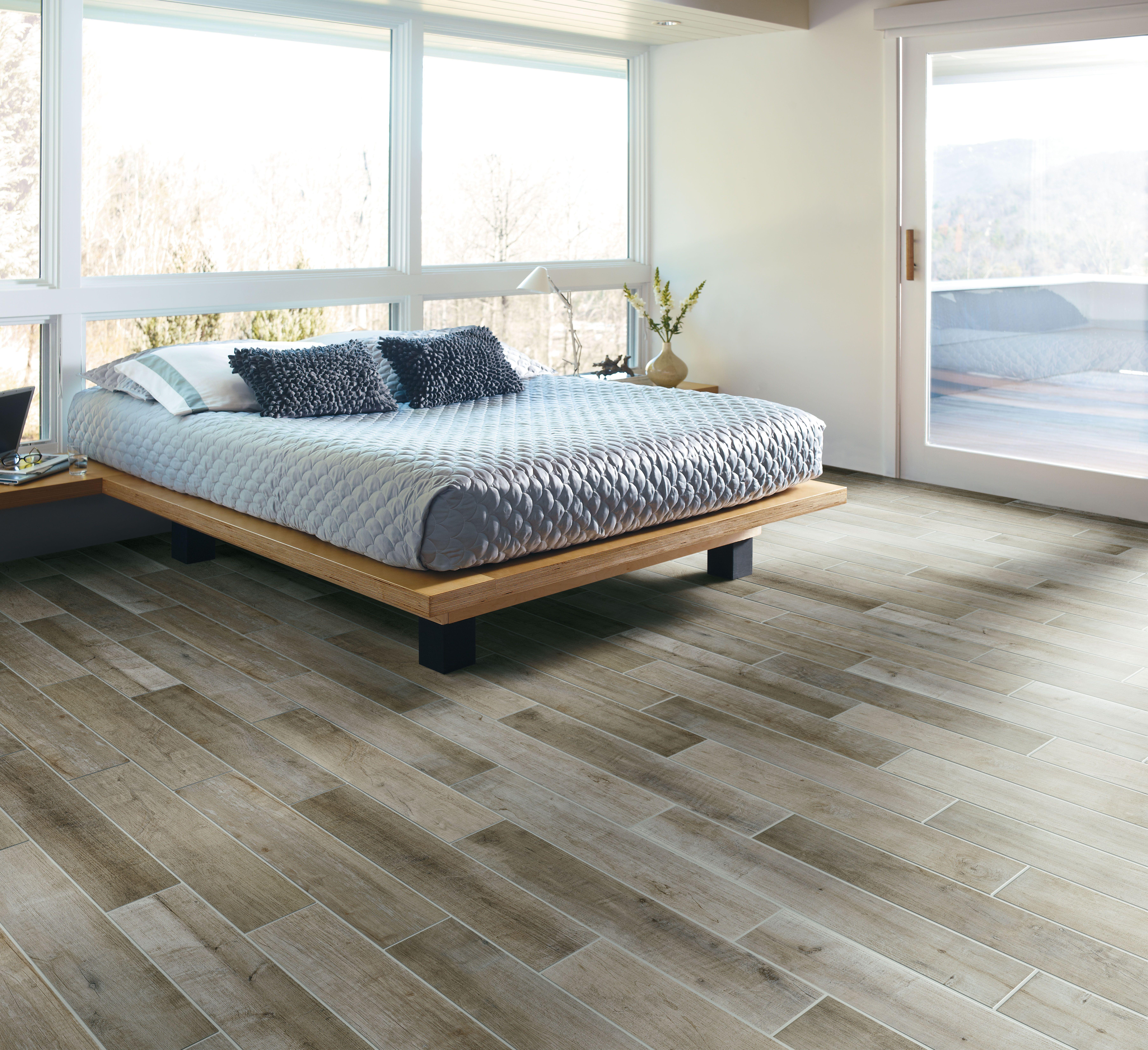Crossville S Speakeasy Porcelain Tile Collection No Trees Harmed In The Creation Of This Beautiful Woo Bedroom Flooring Bedroom Floor Tiles Floor Tile Design