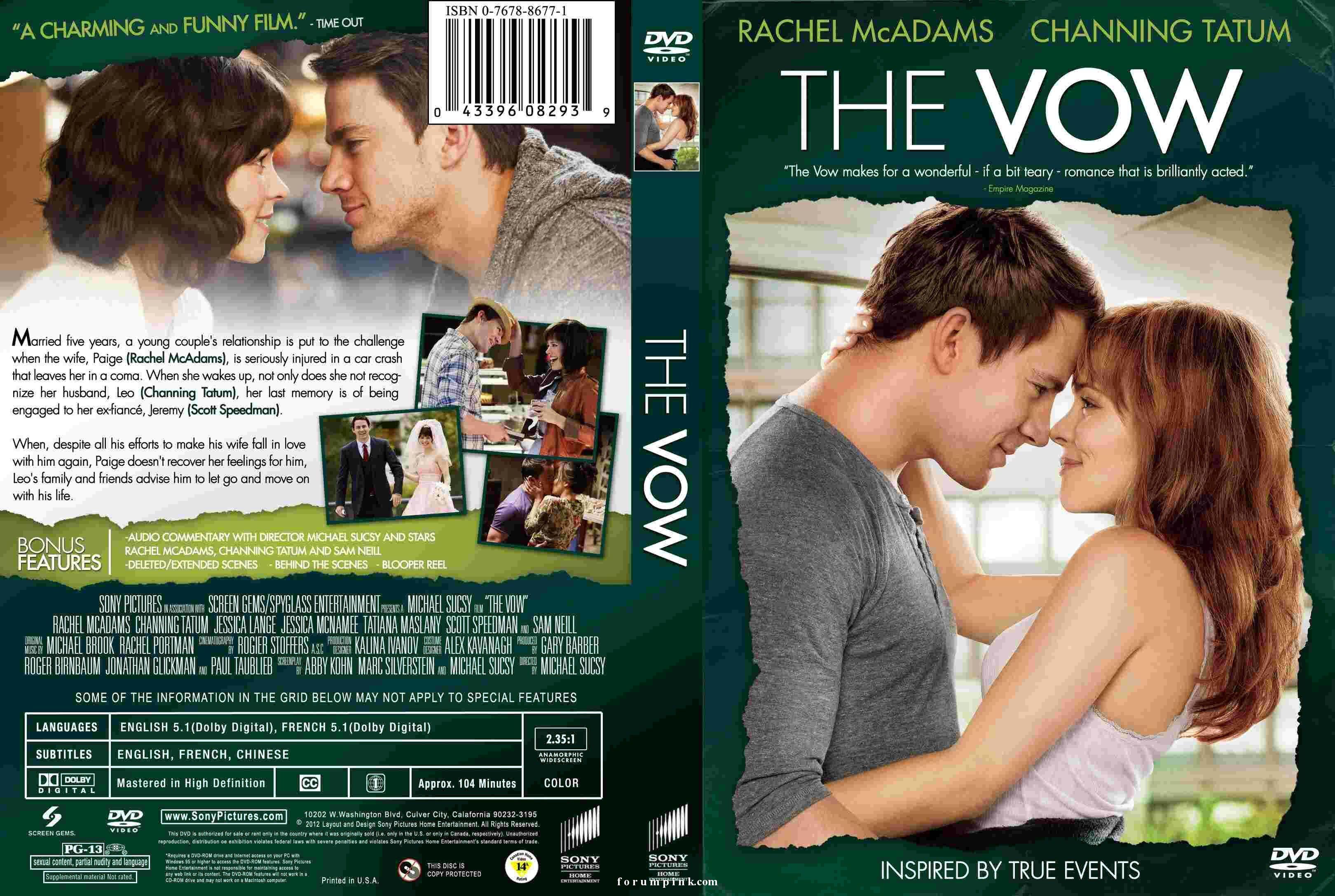 The Vow 2012 Rachel Mcadams Channing Tatum And Sam Neill Funny Films Vows Channing Tatum
