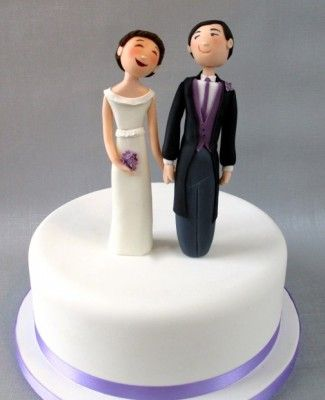 Happy Couple Wedding Cake