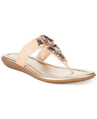f984ae70c778 Bandolino Jesane Embellished Thong Sandals - Sandals - Shoes - Macy s