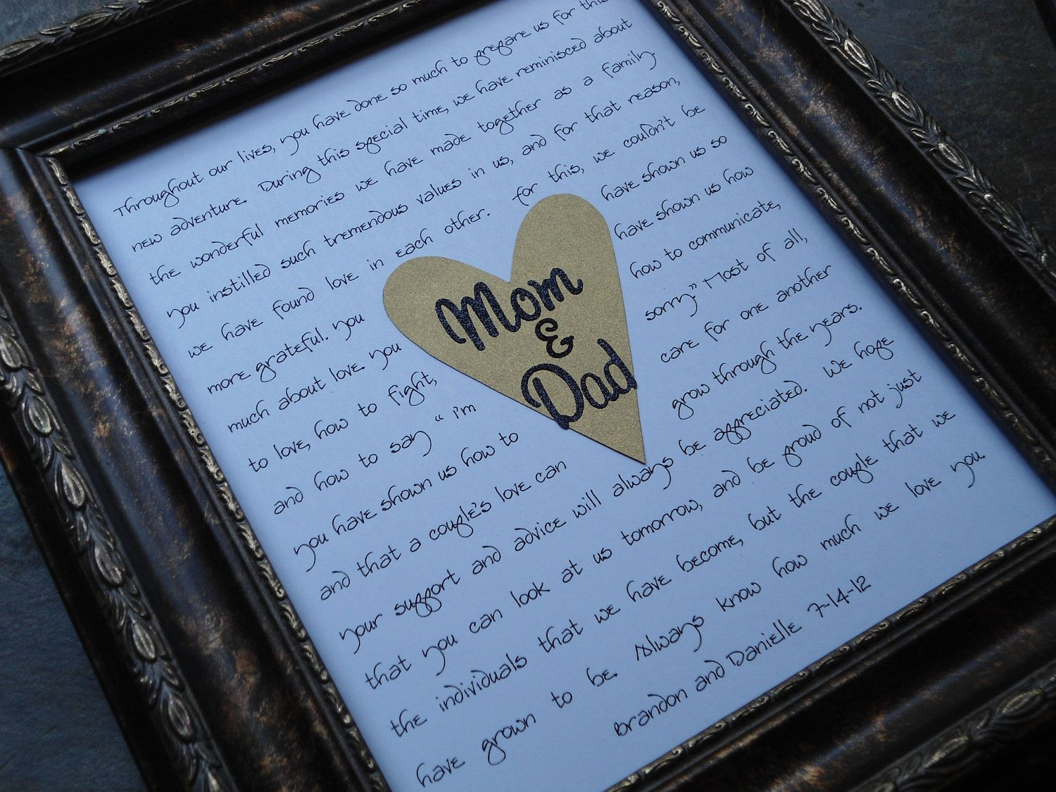 Wedding Gifts For Pas Mother Of Bride Father By Riricreations