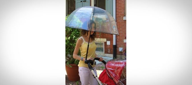 Bumbershoot Stroller Chauffeur Umbrella http://coolpile.com/gear-magazine/43-cool-umbrellas-brighten-rainy-days-buy via coolpile.com  #Gifts #Outdoors #Style #Travel #Umbrellas #Rain #coolpile