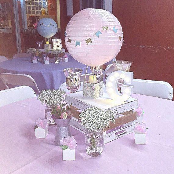 Hot Air Balloon Decorations Baby Shower Centerpiece Hot Air