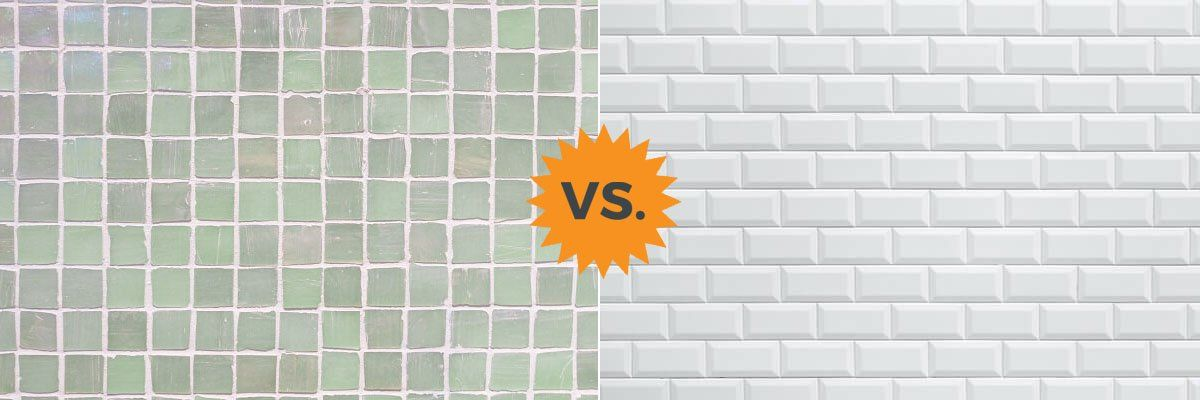 Homeadvisor S Porcelain Vs Ceramic Guide Explores The Primary Differences Between The Two Tiles In 2020 Porcelain Vs Ceramic Ceramic Tile Backsplash Ceramic Wall Tiles