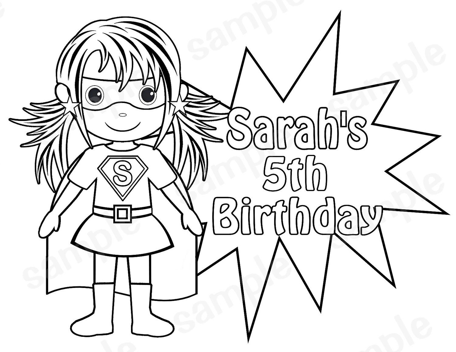 personalized printable superhero super hero birthday party
