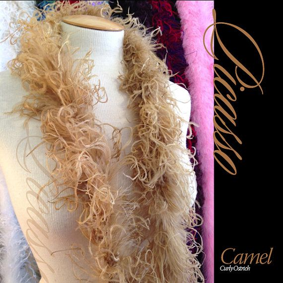1ft 12inch CAMEL Boutique Curly Ostrich feathers by CurlyOstrich, $6.75