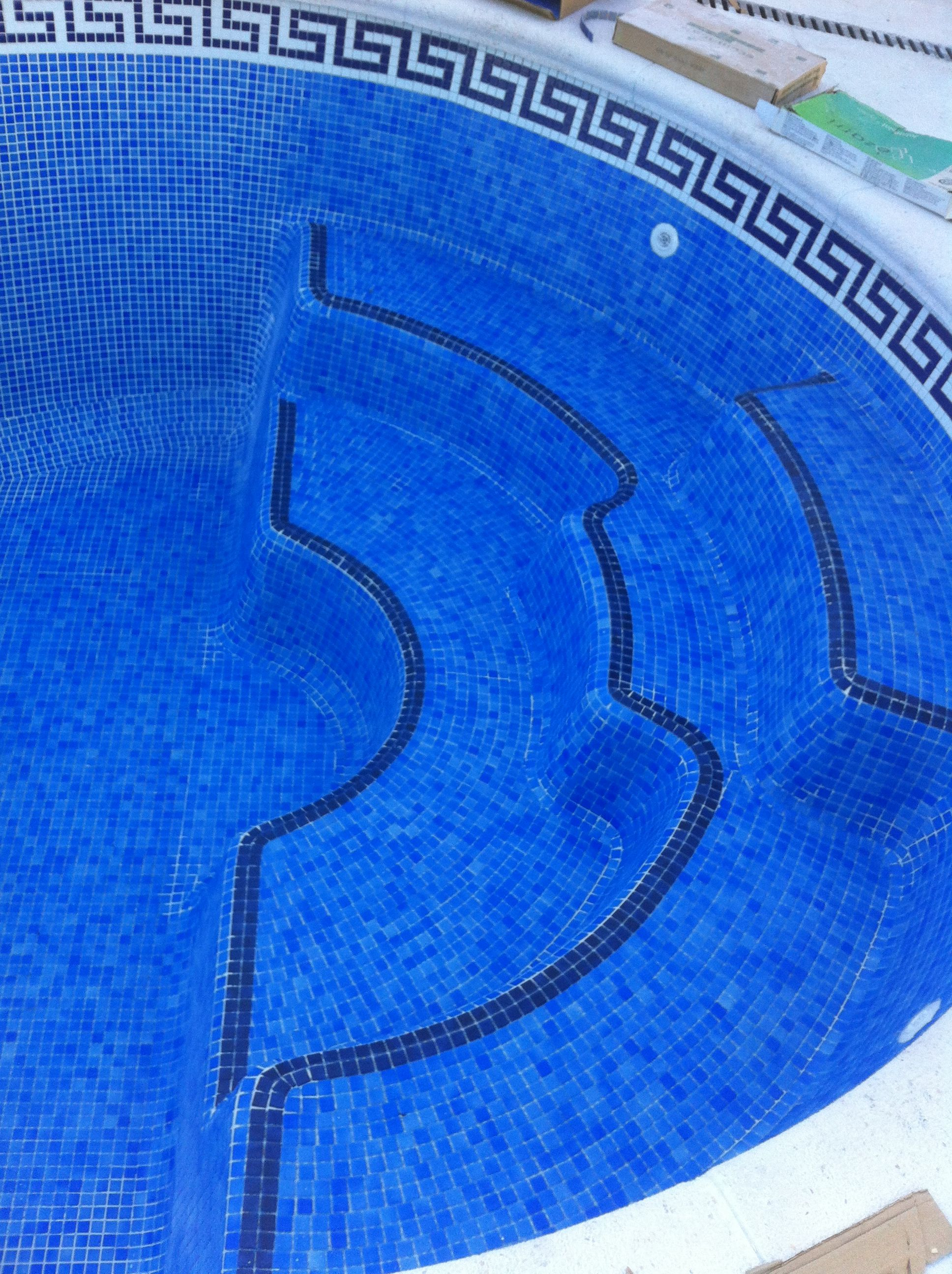 Piscinas de poliester con gresite piscinas de poli ster - Gresite piscinas colores ...