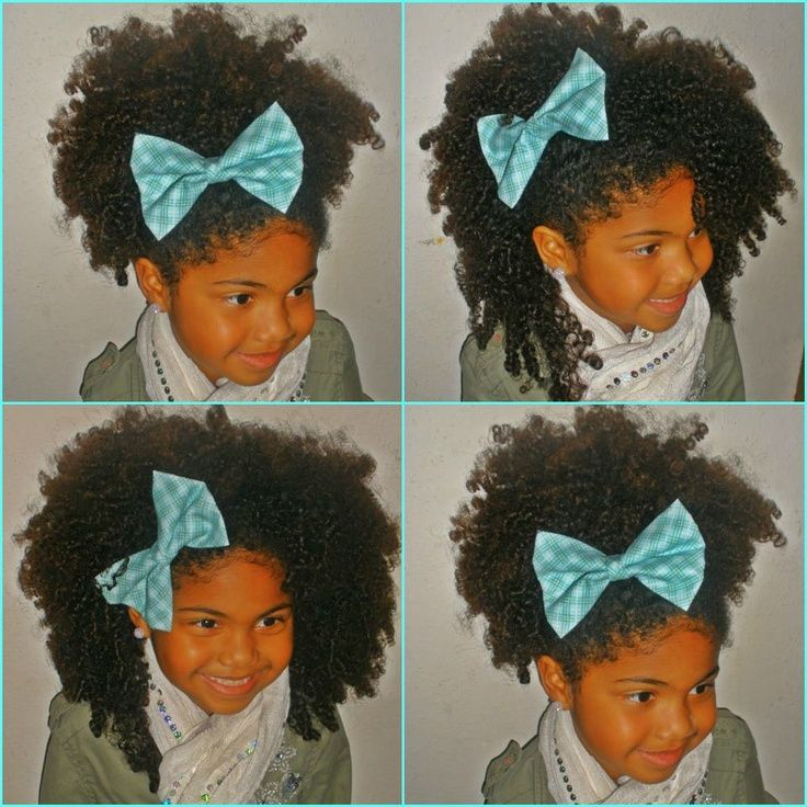 Image Result For Toddler Curly Hair With Big Bow Natural Hair Styles Natural Hair Styles For Black Women Hair Styles