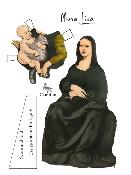 Paper dolls that defy classification, part 1 Mona lisa, Lisa and Dolls