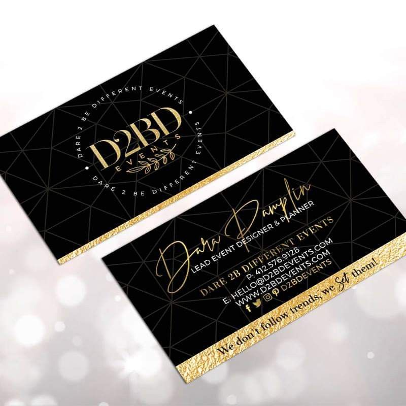 Business Card Designed For D2bd Events Businesscard Businesscarddesign Designsthatpop Putmetoworkforyou Business Card Design Card Design Planner Design