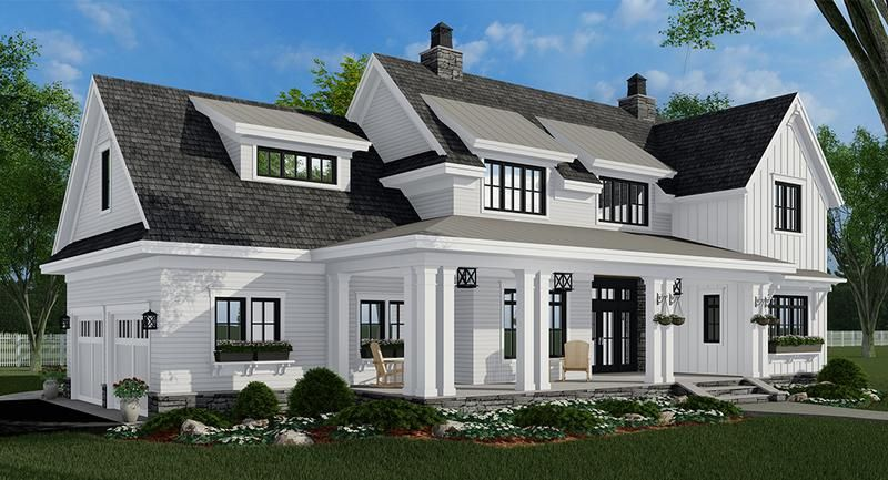 Lillydale House Plan in 2020 | Farmhouse style house ...