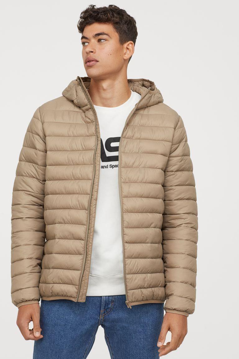Lightweight Puffer Jacket Beige Men H M Us Puffer Jackets Jackets H M Men [ 1152 x 768 Pixel ]