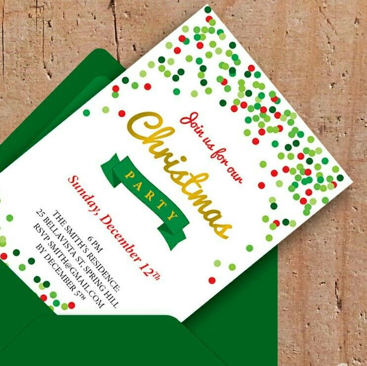 Christmas time! Get your personalized invitation for a Christmas