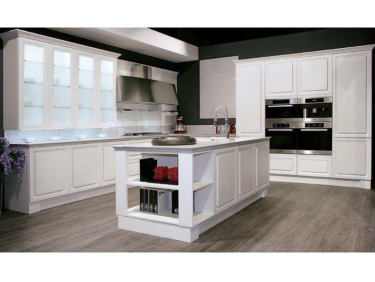 Cucina componibile modulare con isola DIAMANTE by Biefbi ...