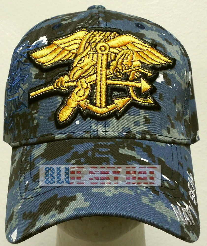 91c160e2f CAMO U.S. NAVAL USN NAVY SEAL TEAM SPECIAL WARFARE TRIDENT SEA AIR LAND CAP  HAT #Premiumhat #BaseballCap