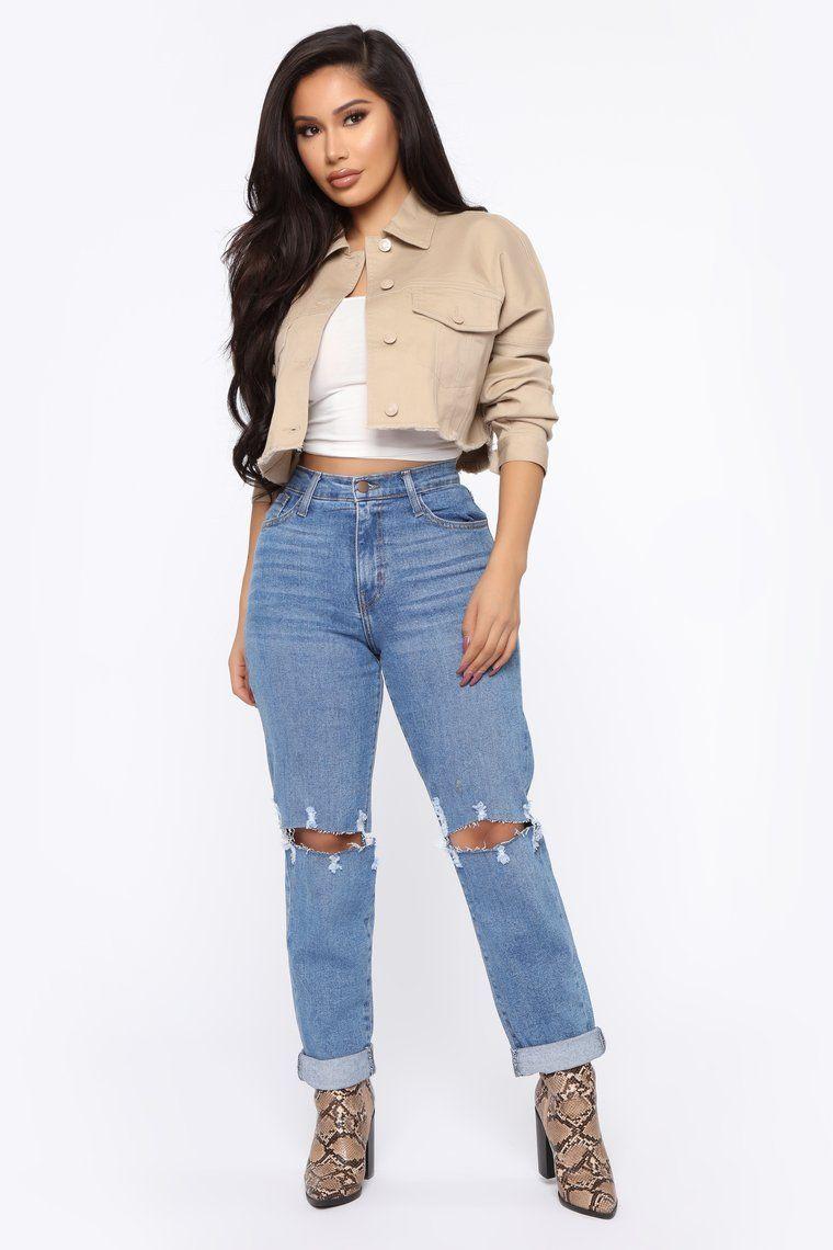 No Excuses Jacket Khaki in 2020 Fashion nova outfits