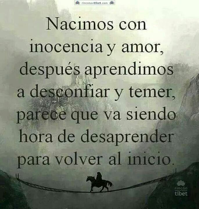 Inocencia Y Amor Vs Desconfianza Y Temor Frases De La