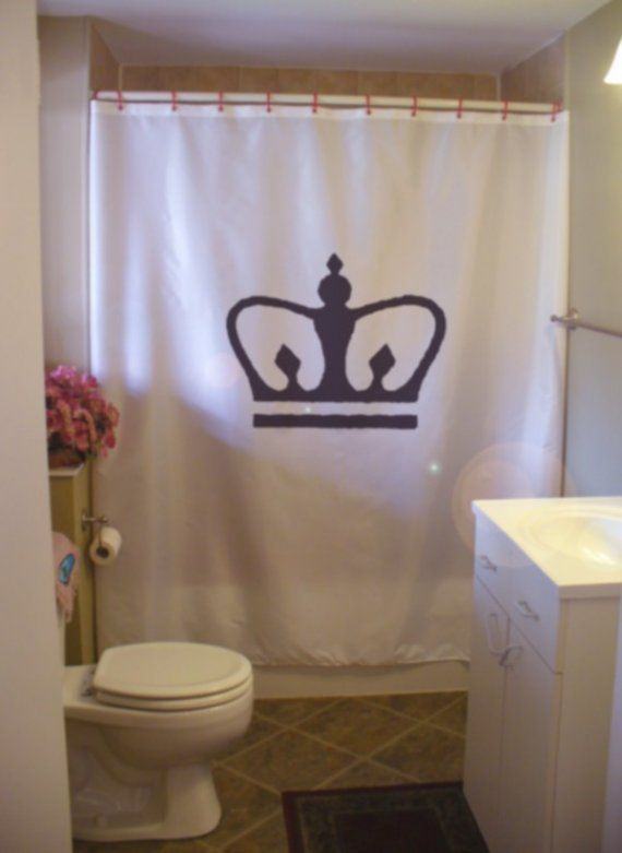 Royal Crown Shower Curtain King Queen Prince Princess Royalty Corona Bathroom Decor Kids Bath Curtains Custom Size Waterproof Kid Bathroom Decor King Queen Prince