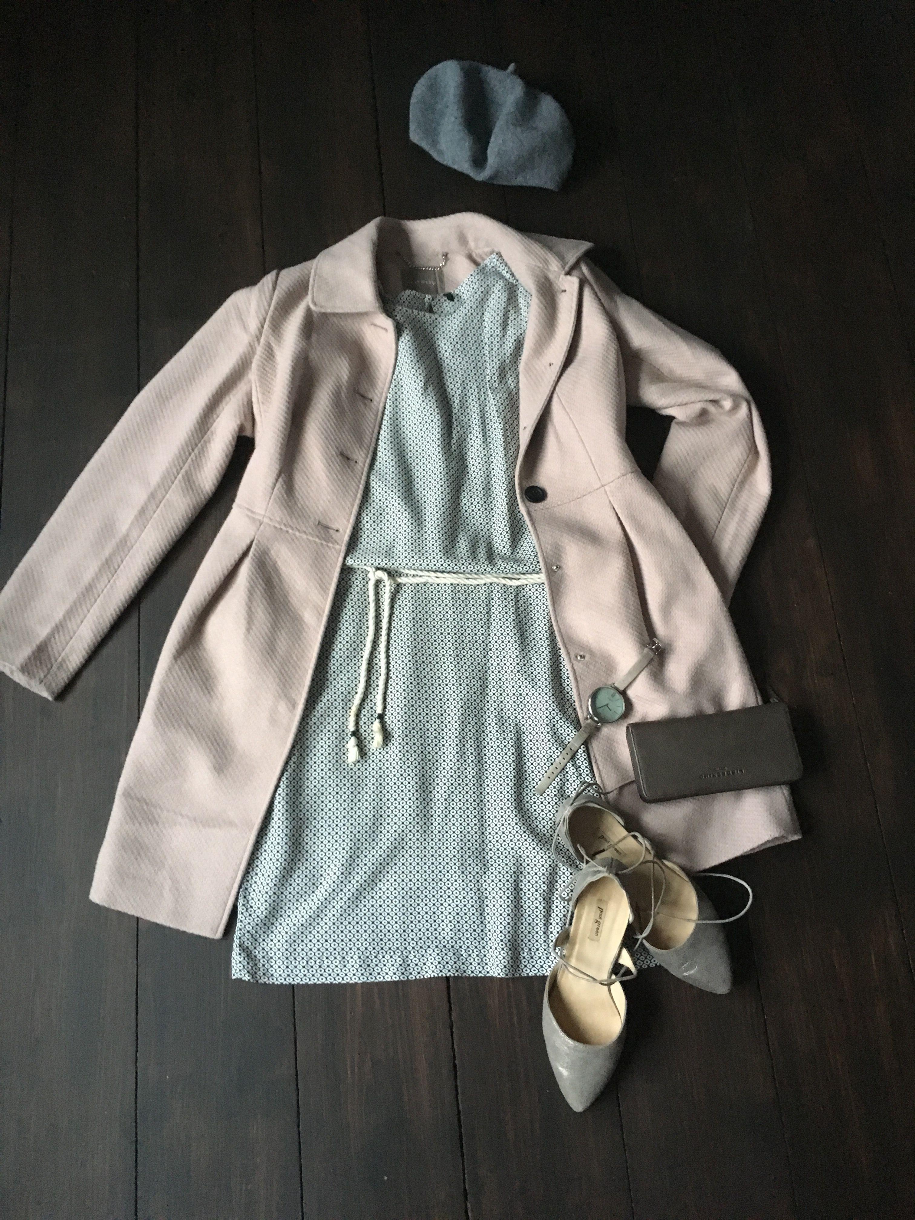 Hochwertig Benetton Kleid; Orsay Mantel; Paul Green Schuhe; Liebeskind  Geldbörse: Oozoo Uhr