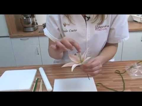 1era Lección Flores en Azúcar: Uso del Bolillo Flor de Cerezo ...