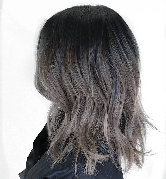 Ash ombré for black hair in 2019