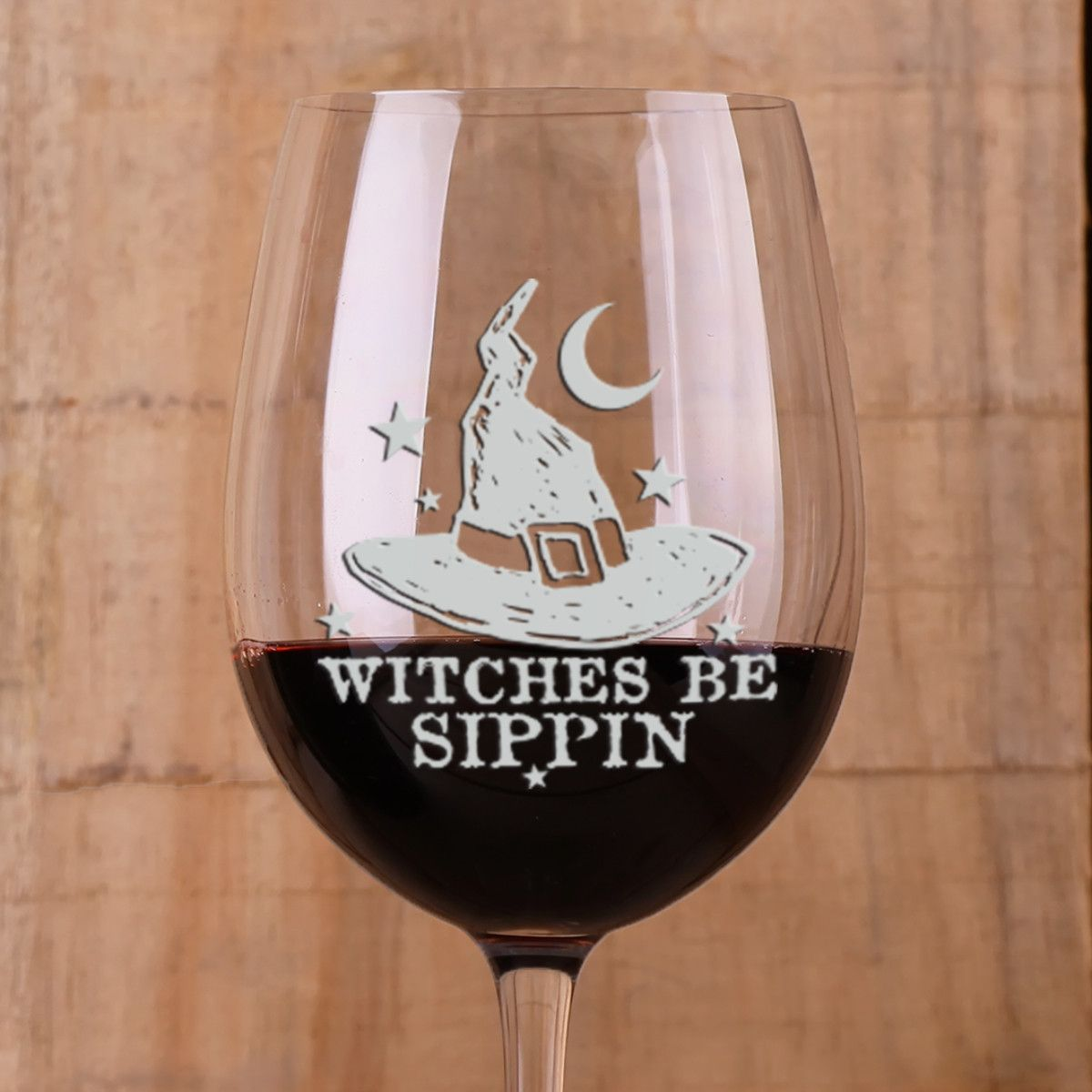 Gift For Her Gift for Witches Custom Halloween Wine Glass Halloween gift Witches Brew Halloween Custom Stemless Wine Glass