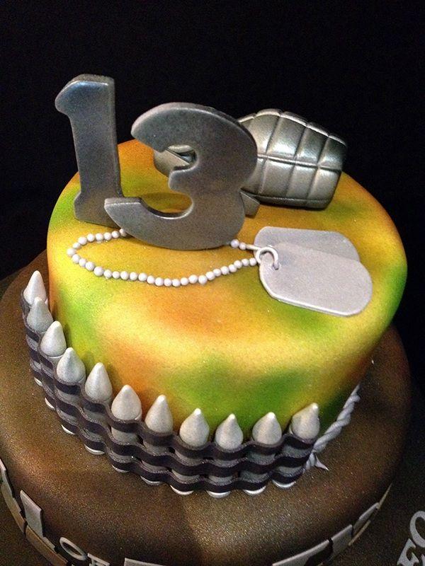Call Of Duty Cake Xzaiver Pinterest Cake Army Birthday Cakes