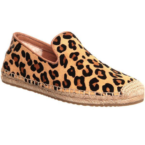 Ugg Australia Sandrinne Espadrille Womens Flats Leopard Calf Hair